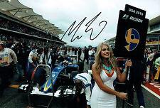 Marcus ERICSSON SIGNED Autograph Sauber Driver Pit Lane Photo AFTAL COA