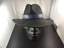 Western cowboy cowgirl BLUE PELGIO BURMESE PYTHON snake skin hat band adjustable