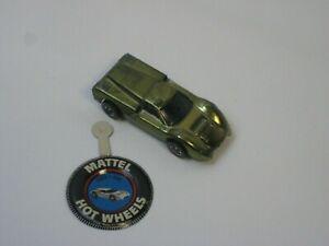 1960's Mattel Hot Wheels Ford J Car Olive Redline #H10