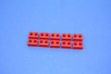 LEGO 10 x Technik Technic Lochstein 1x2 2 Löcher rot red hole brick 32000