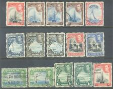 BERMUDA 1938/52 KG6 Pictorial Values to 1/- + Surcharge (15) Used
