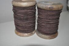 Danese Stile Vintage Rustico Marrone 100% Pelle Filo Nastro Corda Etichetta