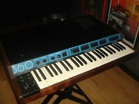 1982 Vintage 360 SYSTEMS KEYBOARD SYNTHESIZER with MIDI and ANVIL CASE