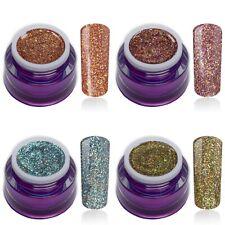 Glitter Farbgel Herbstfarben Set 4x5ml LED UV-Gel Nail Art Nagel Design Colorgel