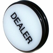 Trademark 3-Inch Dealer Puck Button White