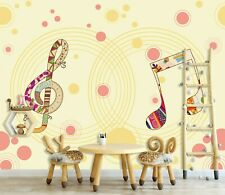 3D Musical Note Zhua8066 Wallpaper Wall Murals Removable Self-adhesive Amy