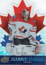 09-10 UD Clearly Canadian  Cam Ward  /100