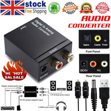 3.5mm Optical Coaxial Toslink Digital to Analog Audio Converter Adapter RCA L /R