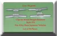 0.50oz 14g Clip-On Wheel Weight FN Style For Alloy Rims Japanese Cars lot 50 Pcs