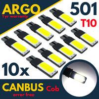 501 Led Cob White T10 Xenon Bulbs W5w Side Light Canbus Error Free Wedge 194 168