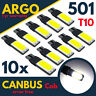 501 Led Cob White T10 Xenon Bulbs W5w Side Light Canbus Error Free Wedge 194 168