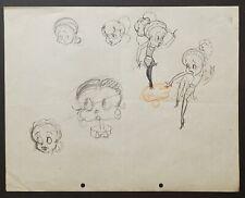 Fleisher-Disney Grim Natwick Original Character Studies - Betty Boop 1929.