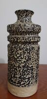Vintage Mid-century Modernist Brutalist Abstract Stoneware Art Pottery Vase