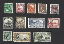 NEW ZEALAND 1939,12 DIFFERENT PICTORIAL STAMPS TO 3/-, CAT £20+, VGU