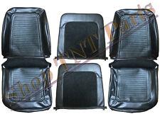 1964 1965 Plymouth Barracuda Front Bucket Upholstery Skins Black Vinyl Cuda