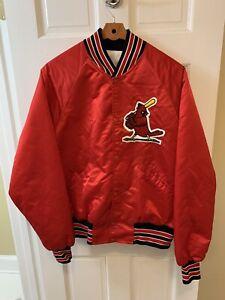 Starter St. Louis Cardinals Jacket Satin MLB Men Extra Large XL Red