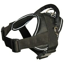 """New listing Dog Harness Dean and Tyler """"Service Dog� Black with Reflective Trim Medium-Xl"""