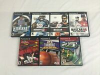 Lot of 7 PlayStation 2 PS2 games Golf Drag racing Bowling Madden CIB tested