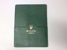 Rolex Portafoglio Carta di Credito in Pelle Verde 101.40.55