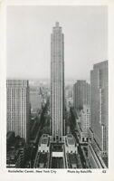 NEW YORK CITY - Rockefeller Center Real Photo Postcard rppc