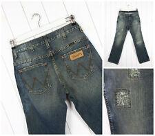 NEU WRANGLER ROCKVILLE Vintage distressed blau regular gerade Jeans W32 L34