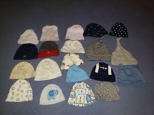 Lot of 20 Infant Newborn 0-6 monthsBaby Boy Hats