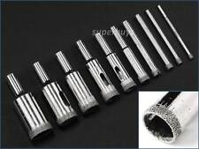 10pcs 3-18mm Diamond Coated Hole Saw Ceramic Tile Marble Glass Stone Drill Bit