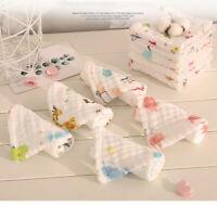 5 Pcs Baby Towels Cotton Toddler Newborn Bath Washcloth Feeding Saliva Wipe