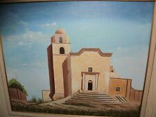Partially Framed Mary Amadio 20x24 Pueblo Style Serene Church Painting