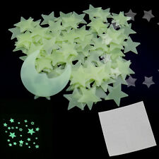 100 Wall Glow In The Dark Stars Baby Kids Room Ceiling Sticker With 1 Moon EZ