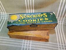 Rare 1930s (1st ever?) Girl Guides Cookies Box. Girl Scouts. Suncrisps. Canada.