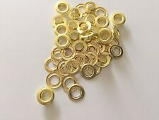 "100 #2 (3/8"") Solid Brass Self Piercing Grommets & Washers 100 pair"