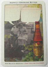 HAPPILY GROWING BITTER Beer COASTER Mat, POSTCARD, New Belgium, COLORADO RAMPANT