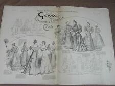 L' ART ET LA MODE - 1893 - No 17 - ILLUSTREE - GYMNASE L HOMME A OREILLE CASSEE