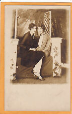 Studio Real Photo Postcard RPPC - Two Flappers