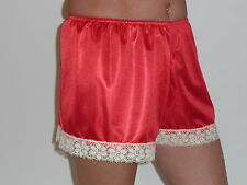 Red / Cream French Knickers 10/12 in Simplex nylon
