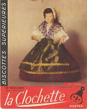 Buvard Vintage  Biscottes La Clochette Nantes  Costume  No 3 Cognac
