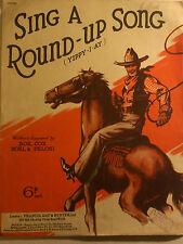 SING A ROUND-UP SONG Yippy-I-Ay 1940 Popular Music Sheet