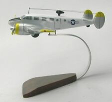 Beechcraft Beech 18 Airplane Desktop Mahogany Kiln Dried Wood Model Regular