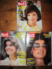 Lot de 3 Paris Match sur Jackie Onassis de 1978, 1979 et 1989