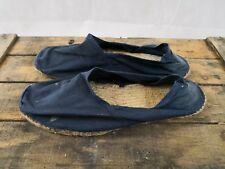 Espadrille ancienne pour homme taille 43/bleu marine/reconstitution costume