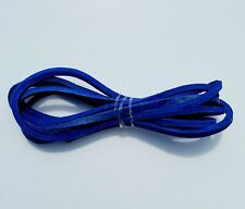 """Highway Leather LACE Genuine Leather Strip Cord Braiding String Lacing 64"""" BLUE"""