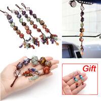 7 Chakra Crystal Suncatcher Car Mirror Gemstone Hanging Ornament Rainbow Gift