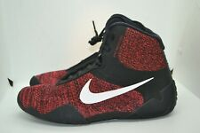 Men's Nike Tawa Wrestling Shoes Ci2952-016 Size 10 Boxing, Mma Red/Black Nwb Coa