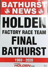New Holden 'Holden Final Bathurst' Poster celebrating Bathurst 1969 - 2020
