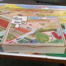 JUDY 1977 FLOOR JIGSAW PUZZLE 20 pcs THE FARM, COMPLETE & BOX VOCABULARY BUILDER
