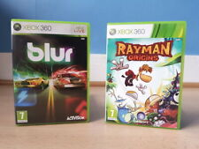 Blur et Rayman Origins XBOX 360 complet très bon état