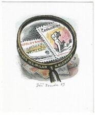 JIRI BOUDA: Exlibris für Milan Kalensky, Briefmarken