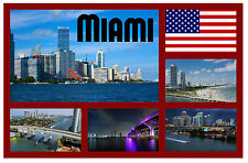 MIAMI, FLORIDA, USA - SOUVENIR NOVELTY FRIDGE MAGNET - BRAND NEW - GIFTS