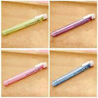 1PC Creative Cute Students Pen Shaped Eraser Rubber Stationery Gift Kid Toy W5W9